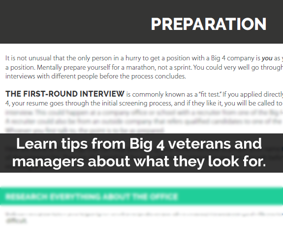 The Ultimate Big 4 Interview Prep Guide - Big 4 Bound - Recruiting